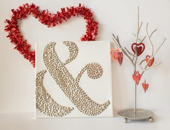 Valentine-Ampersand-Thumbtack-Art