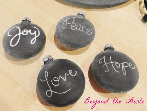 easy peasy chalkboard ornaments