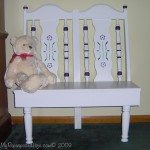 chair bench for kids or dolls