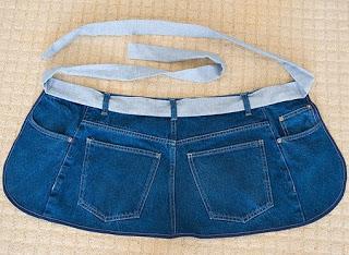 How To Make An Apron From Blue Jeans My Repurposed Life