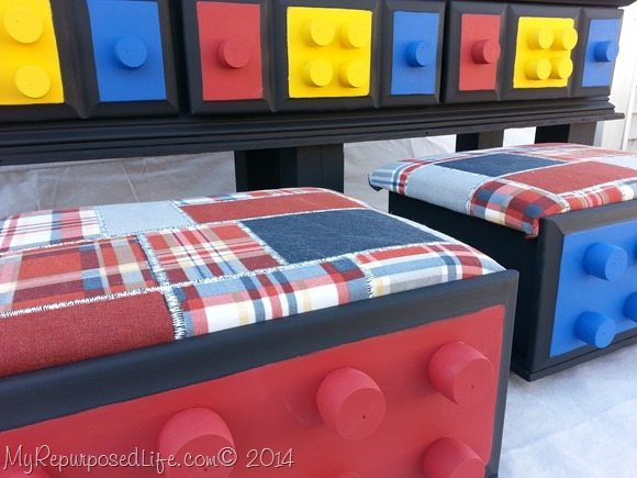 Lego Table With Rolling Seat Storage