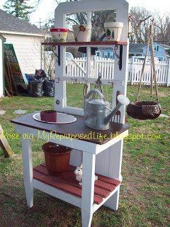 Repurposed Door Into A Potting Bench My Repurposed Life