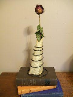 bed spring dried rose display
