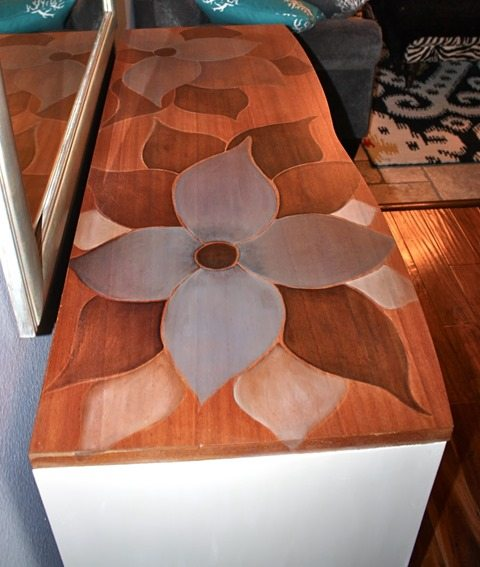 custom-stenciled-stained-dresser-top