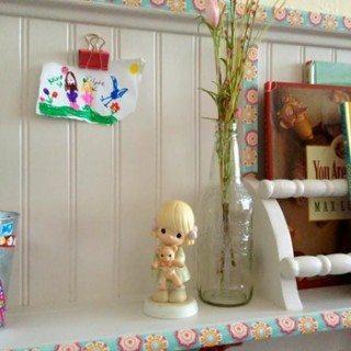 Repurposed Peg Hook Shelf into Fun Book Shelf