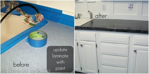 Simple paint updates laminate counter top