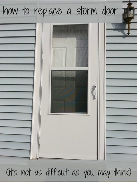Charmant Tutorial How To Replace Storm Door