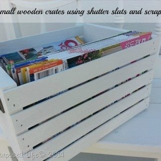 Easy DIY Wooden Crate using Shutter Slats