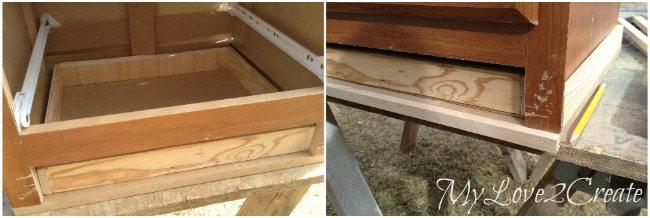 Adding trim to bottom of night stand