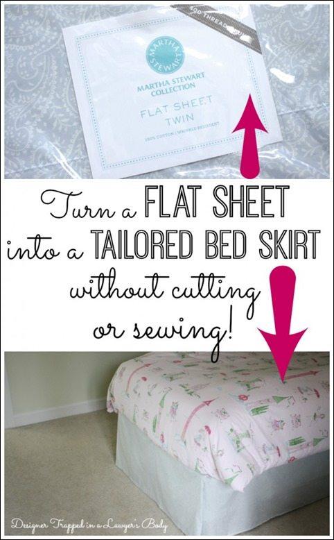 no-sew-sheet-bedskirt