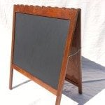 Sandwich Board Repurposed Crib|Chalkboard Easel