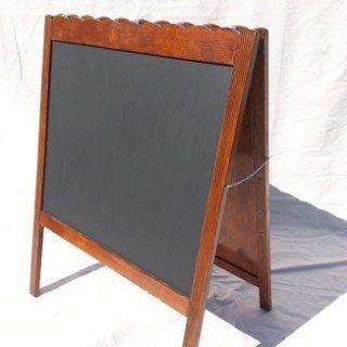 Sandwich Board Repurposed Crib|Chalkboard Easel
