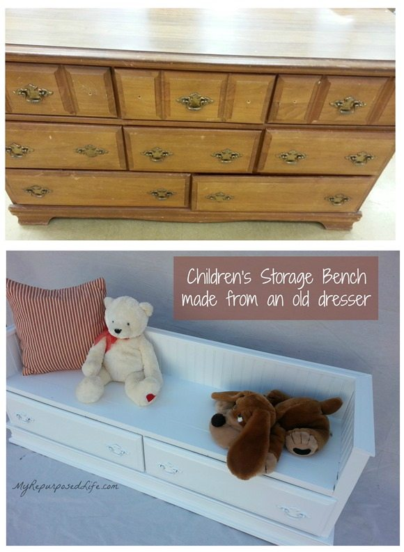 repurposed-dresser-kids-bench