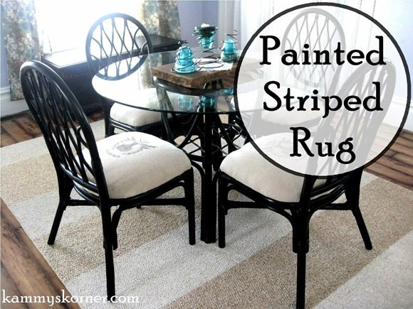 striped-painted-rug