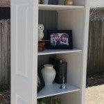 Bi-fold door bookshelf