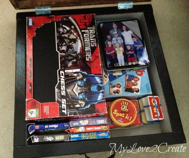 putting games in a box