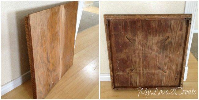 Repurposing an old table top