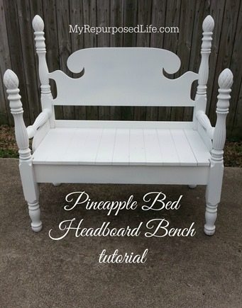 MyRepurposedLife pineapple bed bench tutorial