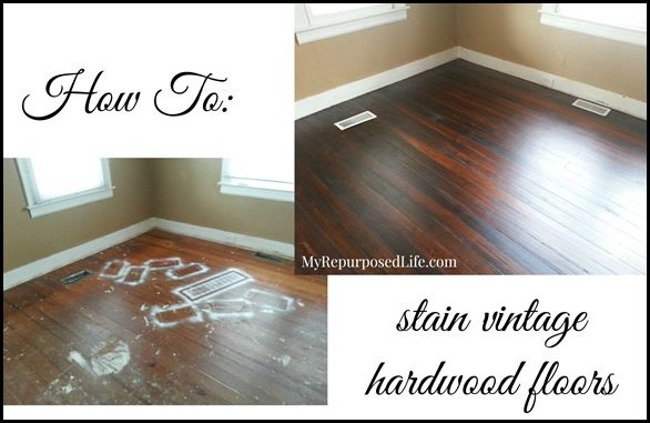 MyRepurposedLife-stain-vintage-hardwood-floors