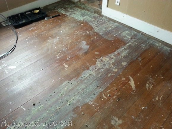 how to remove carpet glue from wood floor | wb designs