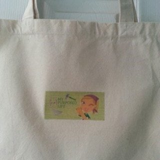 Blog Logo Silhouette Heat Transfer Tote Bag