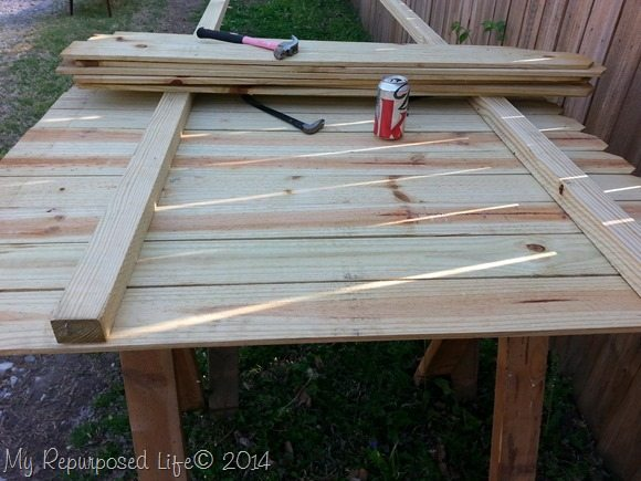 Diy Potting Table Bench My Repurposed Life