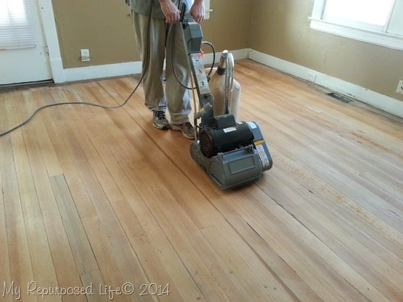 Drum Sander Hardwood Floor Refinishing