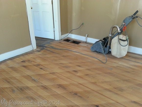Tips for sanding vintage hardwood floors my repurposed life for Sanding hardwood floors