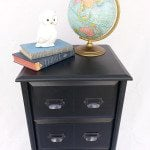 Tall Chest Repurposed Black Cabinet