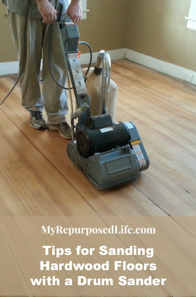 Tips for sanding vintage hardwood floors my repurposed life tips drum sander hardwood floor refinishing mrl solutioingenieria Gallery