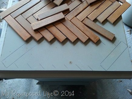 pattern for chevron table top
