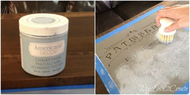 painting stencil with chalk paint