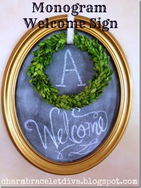 monogram-welcome-sign-chalkboard