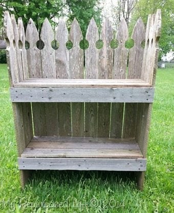 Reclaimed Picket Fence Garden Shelf My Repurposed Life