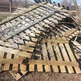 Reclaimed Picket Fence Garden Shelf