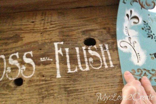stenciling a flourish