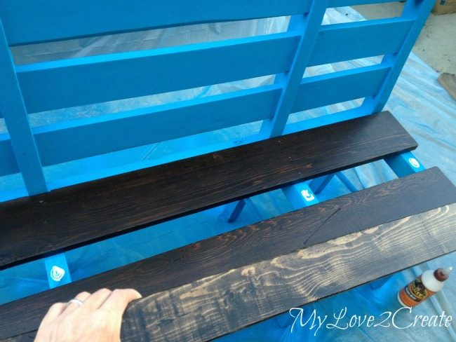 gluing and nailing on bench seat boards