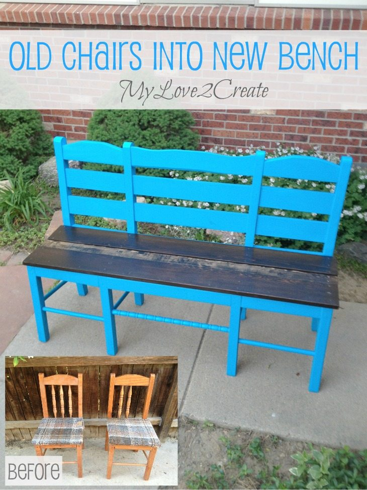 Old chairs made into New bench