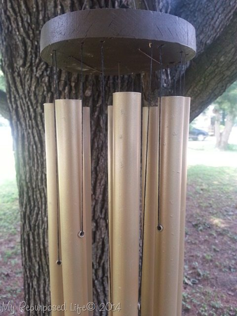 old-wind-chime-restrung