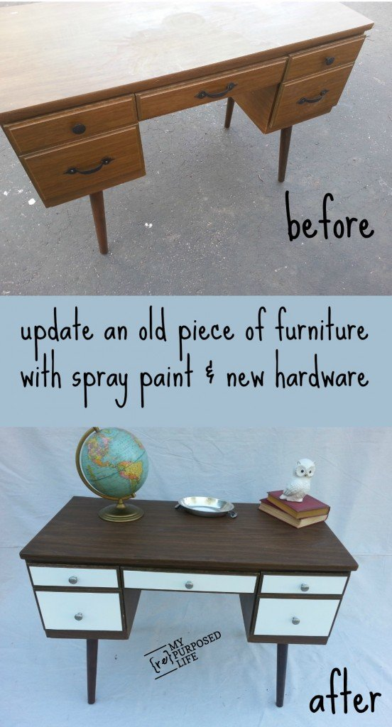update-old-desk-spray-paint-hardware-MyRepurposedLife