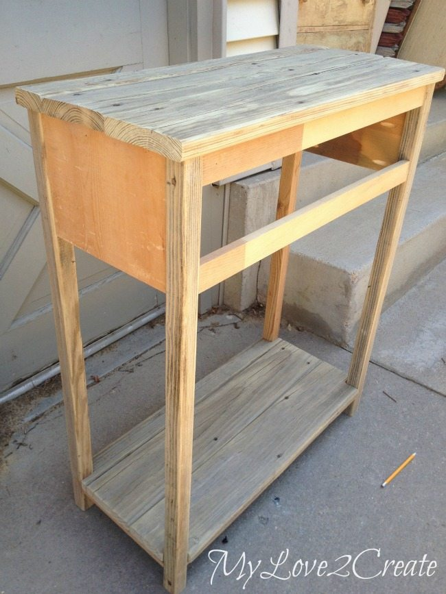 Entry table all built and ready for finish