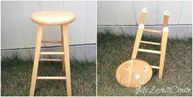 stool turned side table before & Stool Turned Side Table - My Repurposed Life® islam-shia.org