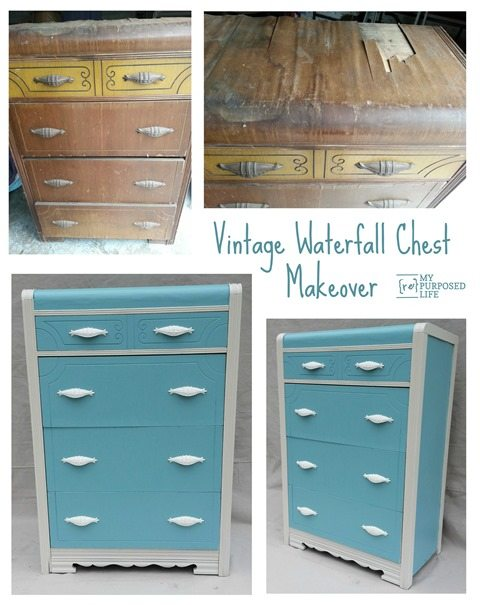 MyRepurposedLife-vintage-waterfall-chest-makeover 2