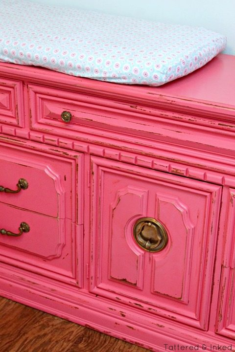 pink-distressed-nursery-dresser-changing-table-