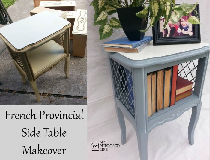 My Repurposed Life French Provincial Side Table