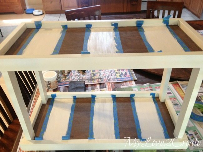 painting strips on trays