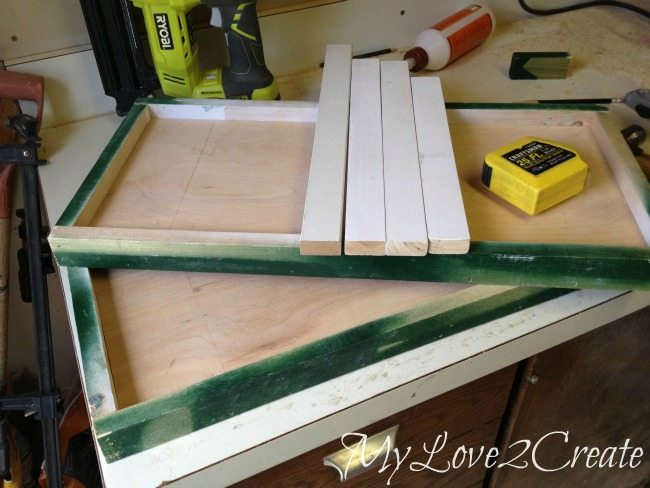 Two trays build, 1X2's for supports