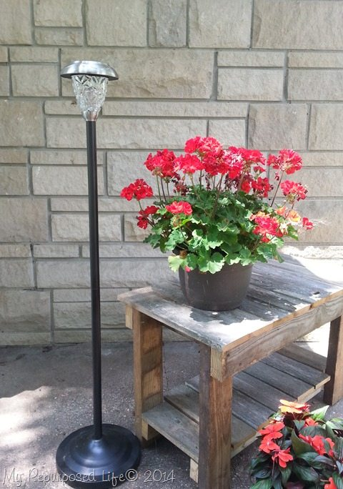 Floor Lamp Repurposed Patio Solar Lamp