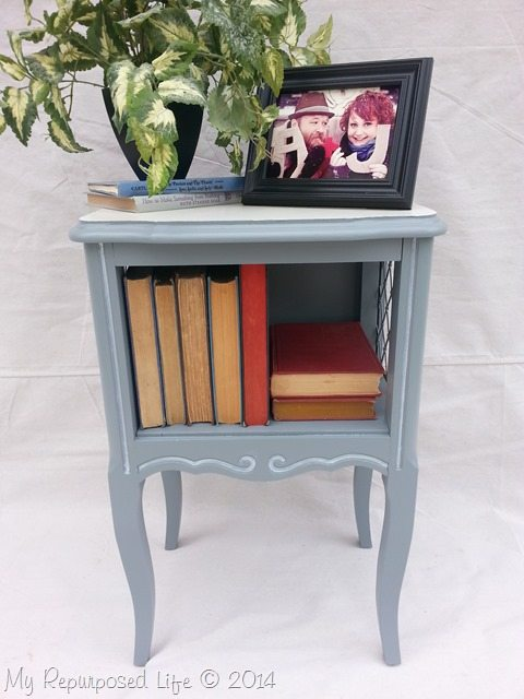 french-provincial-gray-side-table