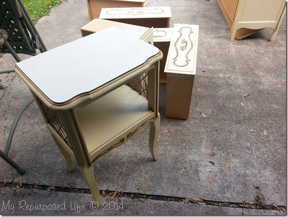 french-provincial-small-side-table-makeover